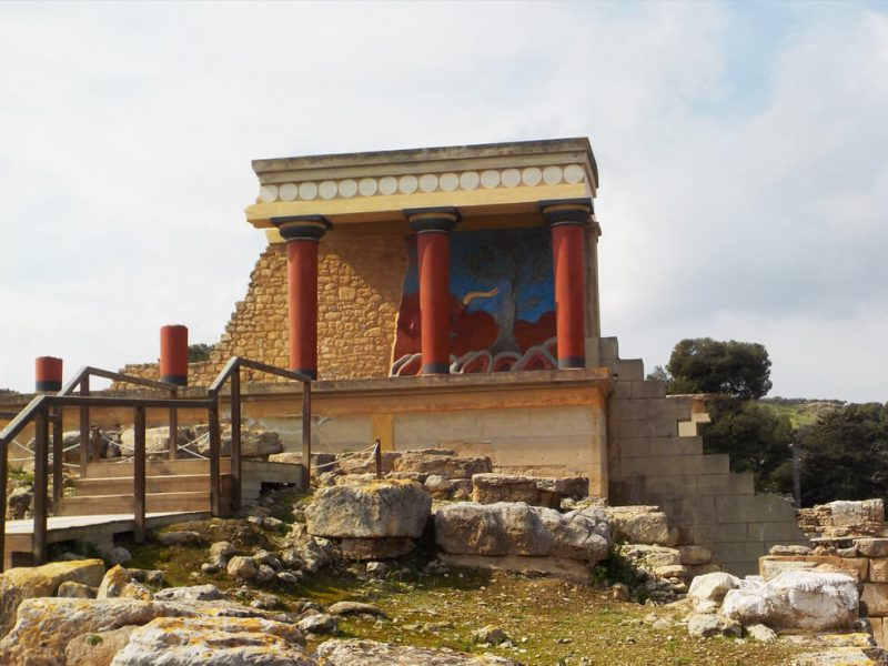 Knossos, Beach Getaway and a short city tour of Heraklion (6 -7 hrs)